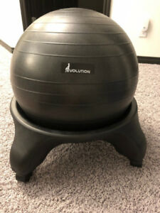 Grey Balance Ball Chair