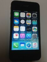 iphone 4 noir 16 gb bell /virgin très bonne condition 100 $ firm
