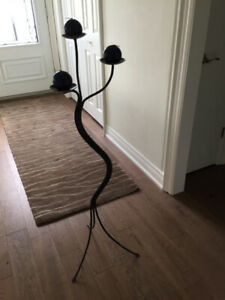 "METAL CANDLE HOLDER STAND 50"" HIGH"
