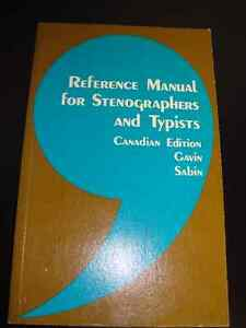 Reference Manual for Stenographers and Typists Peterborough Peterborough Area image 1