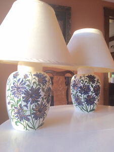 2 Hand-Painted Lamps for $70