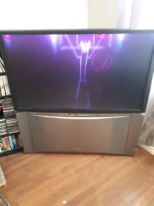 Floor model tv by hitachi