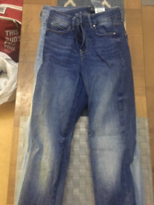 Brand name jeans, leggings, tops, and shoes for sale