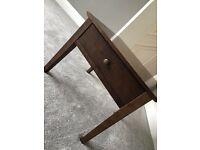 Dark Wood Lamp/Side Table - Good Quality Item