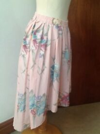 💗Alfred Dunner size 14 pink floral skirt