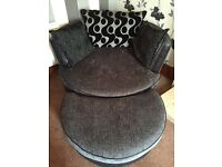 DFS Cuddle Chair and footstool