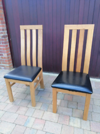 Oak Dining Room Chairs (8 available)