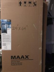 """Maax shower door 24""""x64"""""""