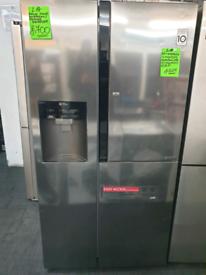 Silver lg american fridge freezer