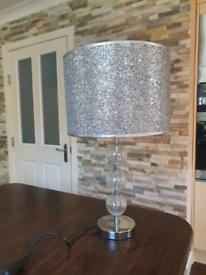 Silver Glitter Lamp