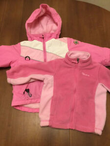 Children's place 3 in 1 winter coat & fleece