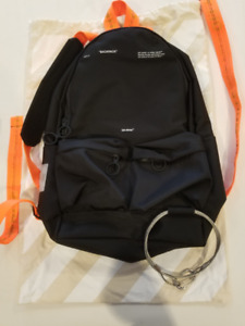 OFF WHITE tape backpack, sac a dos OW