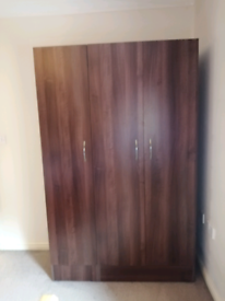Wardrobe, drawers and bedside drawers