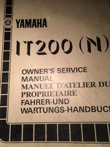 1985 Yamaha IT200N Owners Service Manual