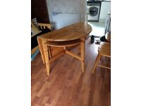 Half Leaf Fold Table with 2 chairs good for kitchen