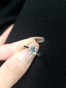 1ct 14 karat white gold engagement ring. $3,999. OBO.