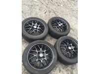 POLO 6n2 GTI BBS ALLOY WHEELS RIMS GENUINE