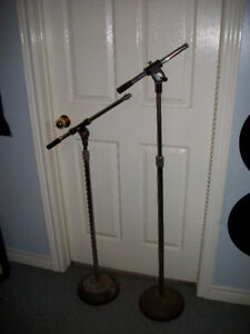 2 1980's Boom Mic Stands