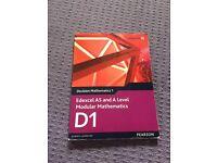 AS level D1 Edexcel textbook