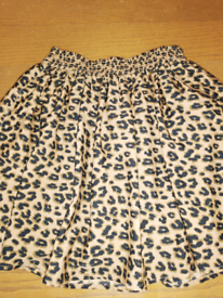 NEXT leopard print skirt age 9 years