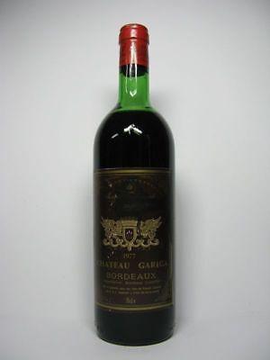 w42) 53,20€/L 1 Fl. Wein 1977 Chateau Gariga Bordeaux St. Ferdinand Rotwein 0,75