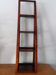 Small wooden ladder display shelf    hang or stand