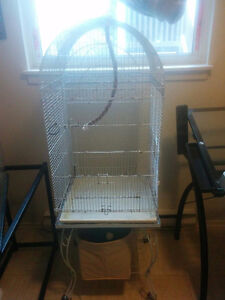 Bird/sugar glider cage and accessories
