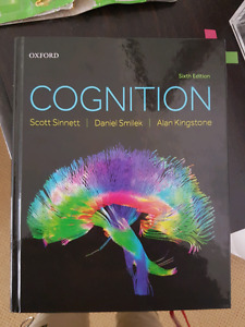 Cognition 6th edition by Sinnett, Smilek, and Kingstone