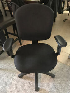 Vinyl covered office chair
