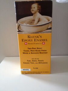 Klenk's 1L White Epoxy Enamel Paint - new in box