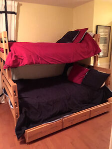 Bunk Beds with Trundle *Option to separate single and double bed
