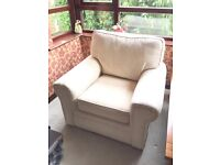 1, 2 and 3 seater hand made cream sofa