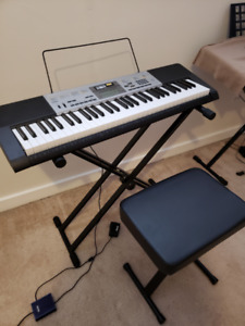 PIANO KEYBOARD AND ACCESSORIES