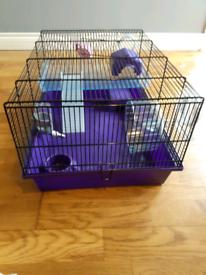 Hamster cage, hamster etc