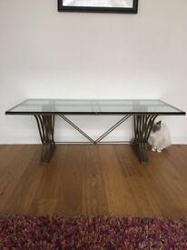 Stunning Metal & Glass Coffee Table