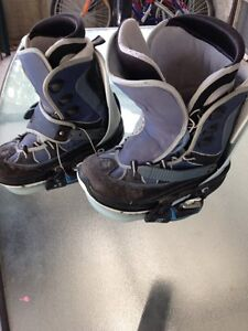 Clip-in Snowboard boots and bindings