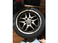 3 x Dezent 18inch alloys with tyres