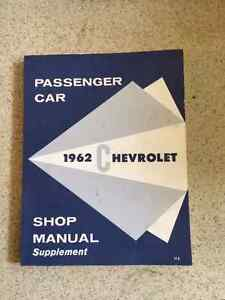 1962 Chevrolet Shop manual and Assembly manual