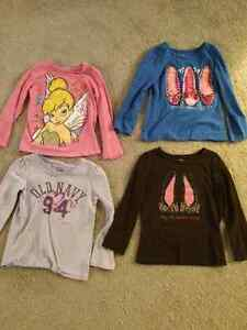 4x girls size 5T long sleeved shirts
