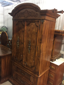 Antique Wood Wardrobe