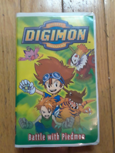 DIGIMON - Battle with Piedmon, VHS, Home Video $5 For Sale