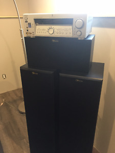 Naunce tower speakers & center channel with Sony amplifier
