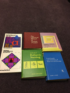 Medicine and Nursing Textbooks - circa 1970s to 1980s.