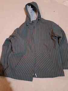 Men's shell jacket with fleece lining