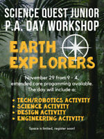 Science and Tech P. A. Day Camp (Nov. 29)!