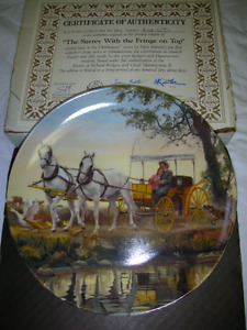 The Surrey with the Fringe on Top - collector plate