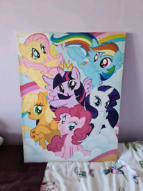Large my little pony canvas picture