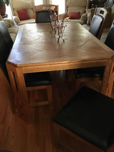 Dining table with 6 chairs West Island Greater Montréal image 4