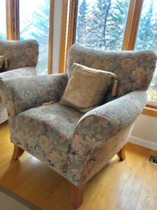Elegant matching accent chairs