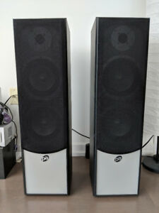 Precision Acoustics 2 Tower and 3 Smaller Speakers +  Subwoofer